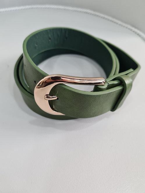 Cinturón verde polipiel