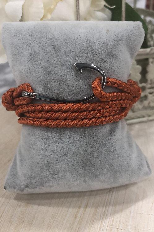 Pulsera cuerda enganche acero