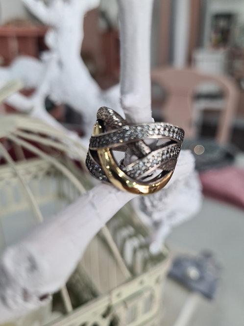 Anillo plata barroco