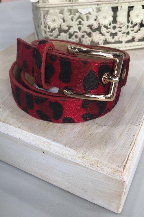 Cinturón  tipo piel pelito