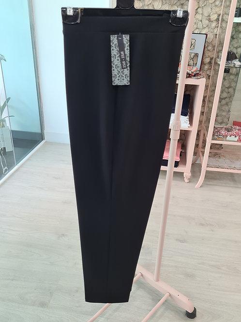 Pantalón vestir negro goma elástica talla grande