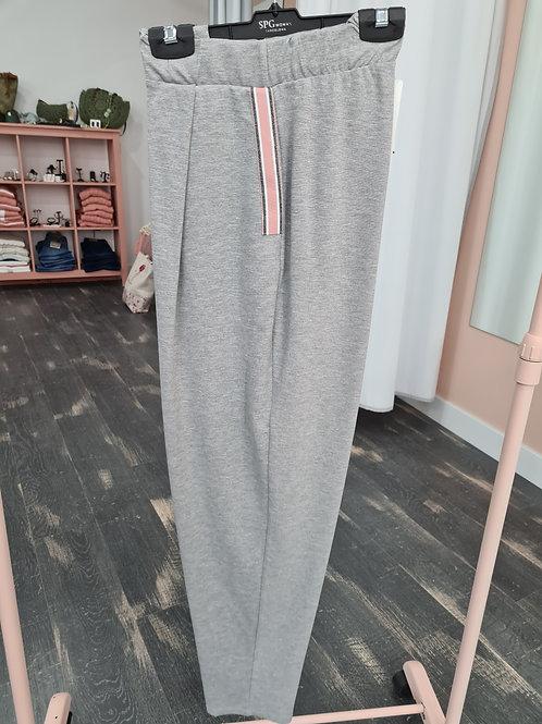 Pantalón  mujer tipo chándal gris