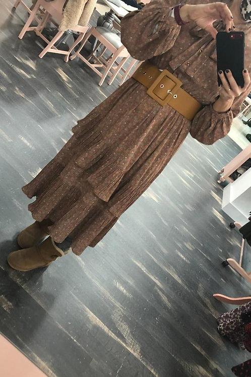Vestido estampado largo