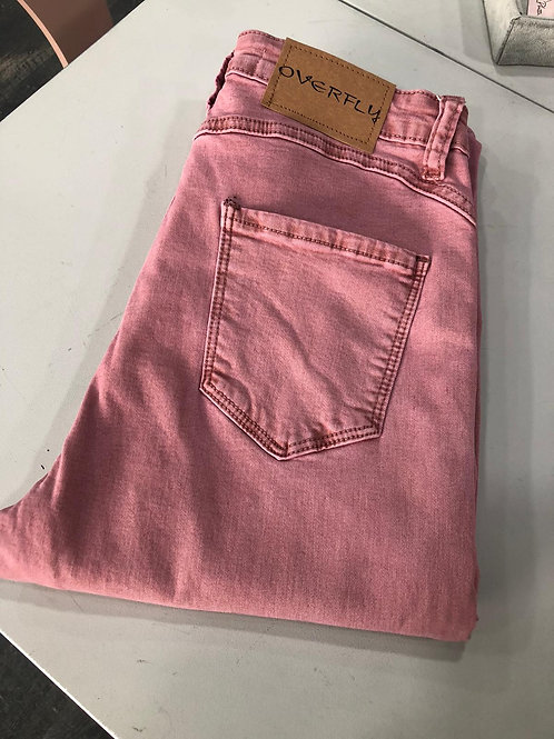 Pantalón  rosa  vaquero