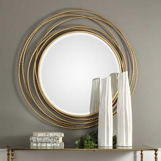Whirlwind Round Mirror
