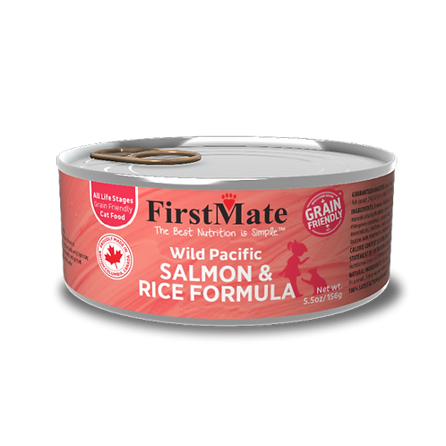 FirstMate Wild Pacific Salmon and Rice Formula 5.5 oz