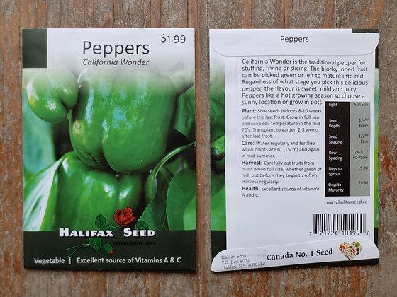 Peppers -California Wonder