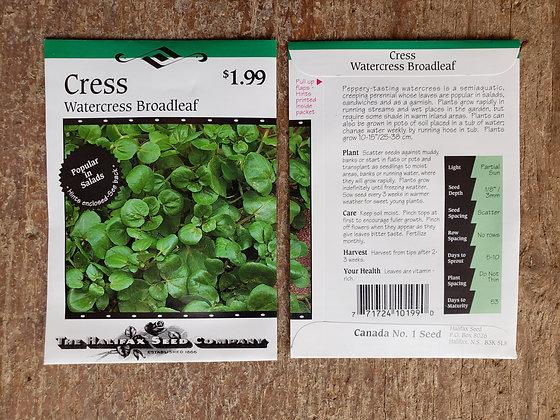 Cress - Watercress Broadleaf