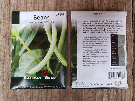 Beans - Kentucky Wonder Pole