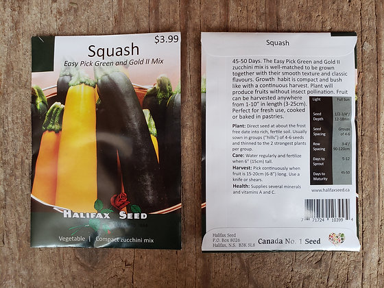 Squash - Easy Pick Green and Gold II Mix