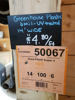 Greenhouse Plastic 14' roll