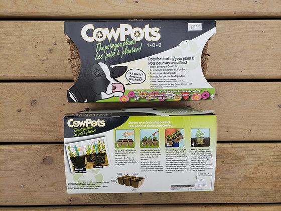 Cow Pots starter pots 3 qty 6-cell flat
