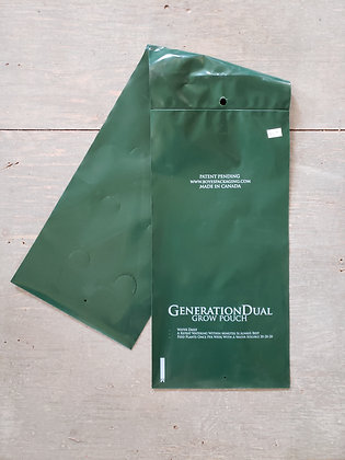 Saddle bag grow pouch