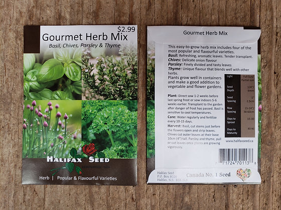 Gourmet Herb Mix - Basil, Chives, Parsley & Thyme