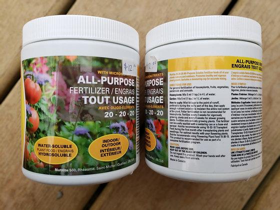 Nutrite All Purpose fertilizer - 20-20-20 500g