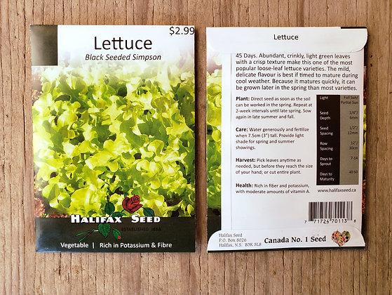 Lettuce - Black Seeded Simpson