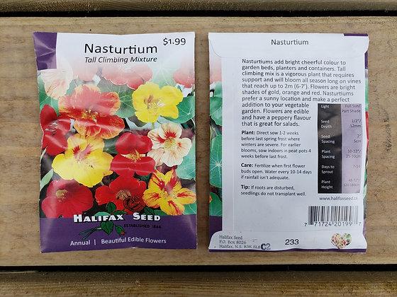 Nasturtium - Tall Climbing Mixture