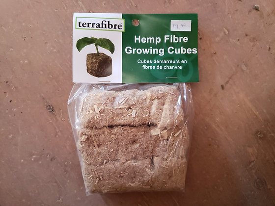 terrafibre Hemp Fibre Growing Cubes