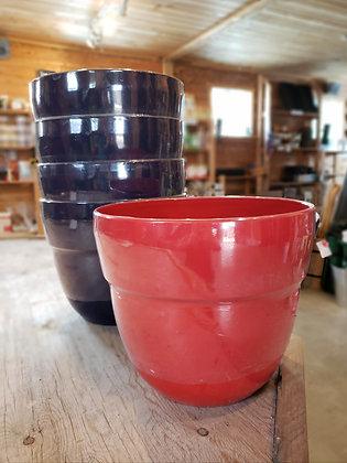 "Augustine glossy plastic pot - 13"""