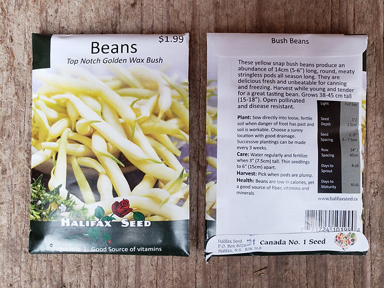 Beans - Top Notch Golden Wax Bush
