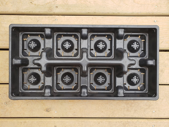 """Tray for 6"""" transplanting pot - 8 count"""