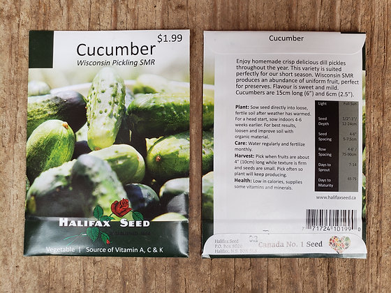 Cucumber - Wisconson Pickling SMR