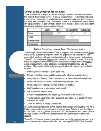 Team Effectiveness Analysis