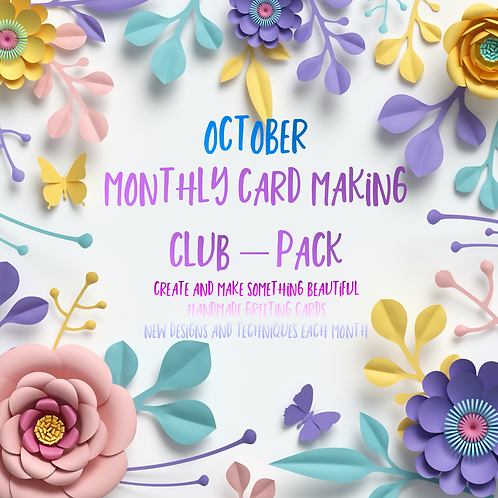 Monthly Card Club - October Release