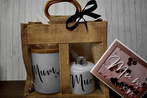 Matt White Candle & Diffuser Mum Gift Bag