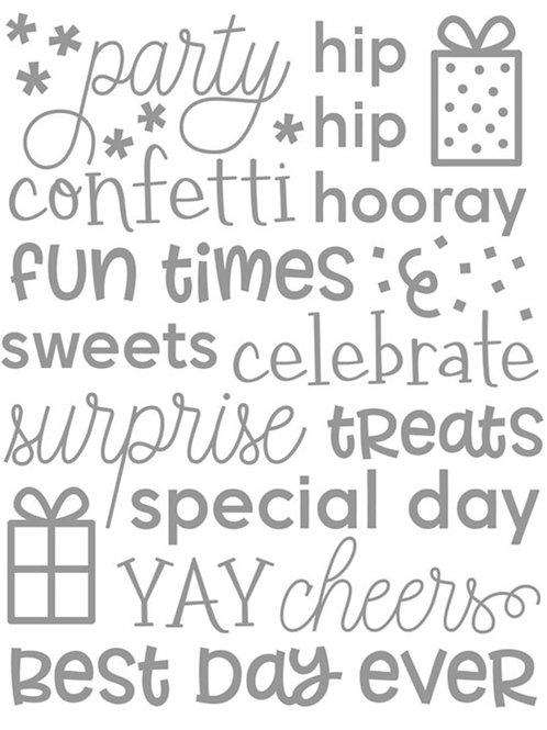 Celebrate Embossing Folder