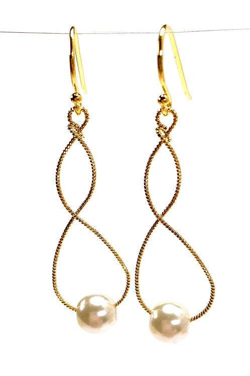 Twisted Faux Pearl Earrings