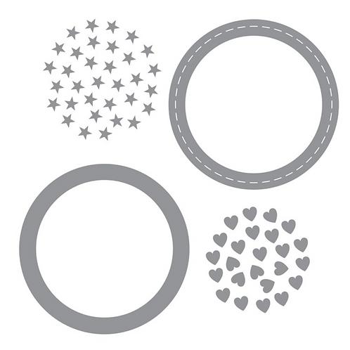 Shaker Window & Confetti Thin Cuts