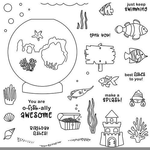 O-fish-ally Awesome—April Stamp of the Month