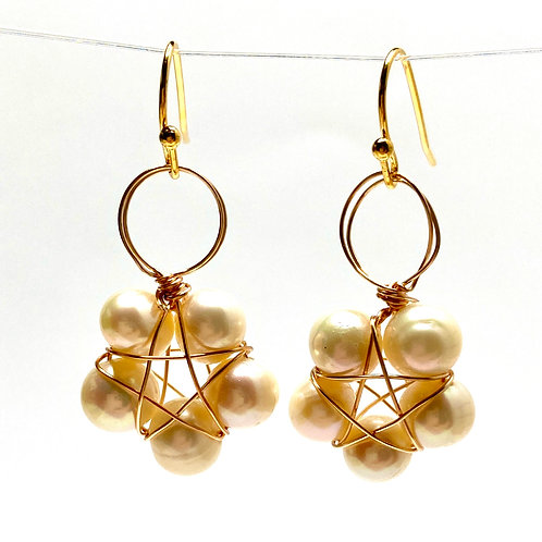 Wired Faux Pearl Earrings