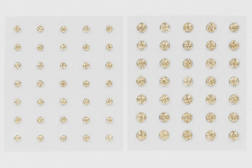 Gold Glitter Gems