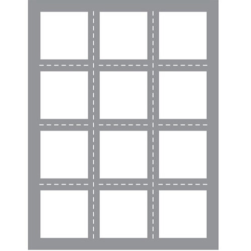 Multi Square Windows Thin Cuts