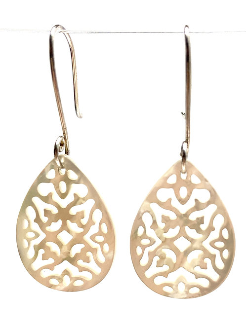 Carved Mother of Pearl Earrings SS