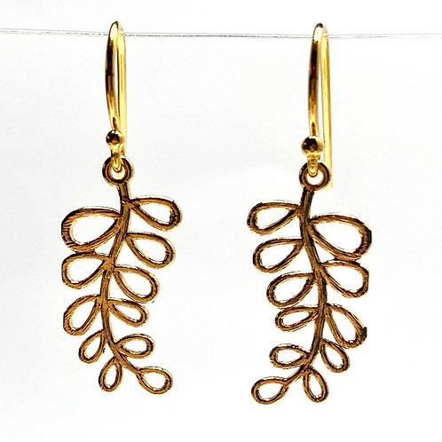 Delicate Vine Drop Earrings