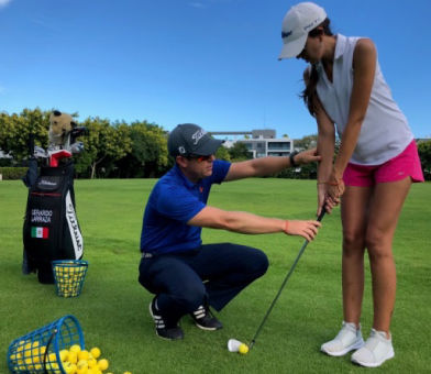 Golf lessons in Riviera Maya