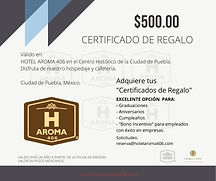 certificado de regalo casa hotel Aroma 4