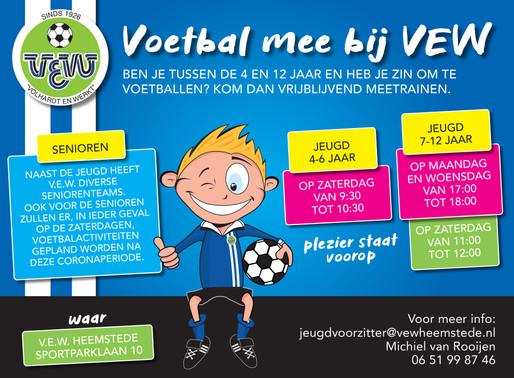 Kom voetballen bij VEW!