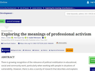 Exploring the meanings of professional activism