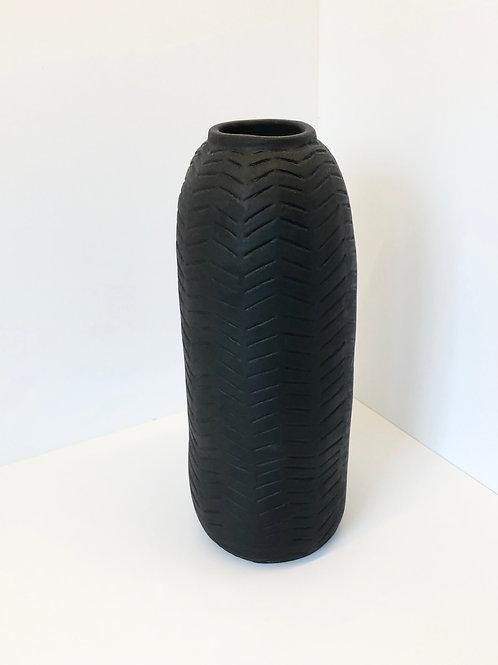 Keramikvase «Black Herringbone»