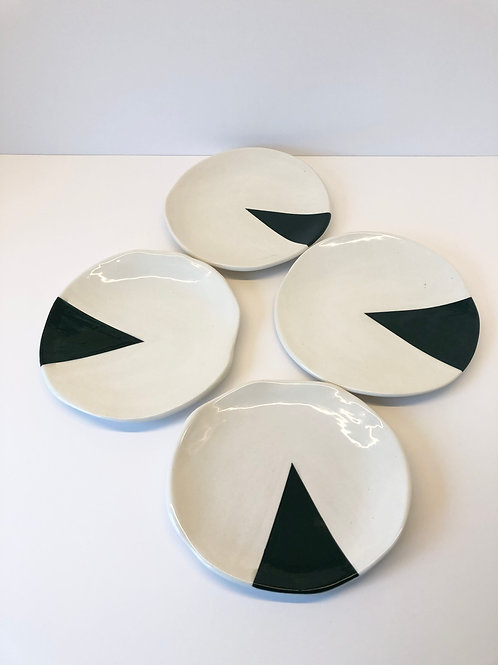 4-er Set Keramikteller «Dark Forest»