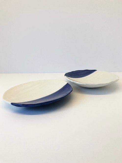 2-er Set Keramikteller «Blue Ocean»