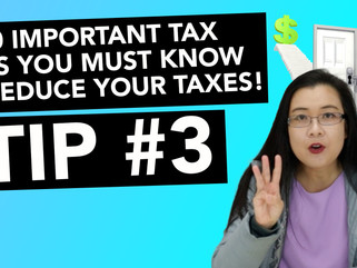 30 Important Tax Tips You Must Know to Reduce Your Taxes! - #3  Balance Sheet Items