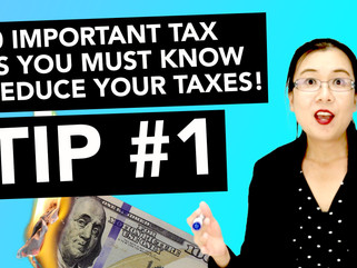 30 Important Tax Tips You Must Know to Reduce Your Taxes! - #1 Know Your Numbers!