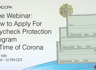 Free Webinar: How to Apply For Paycheck Protection Program In Time of Corona
