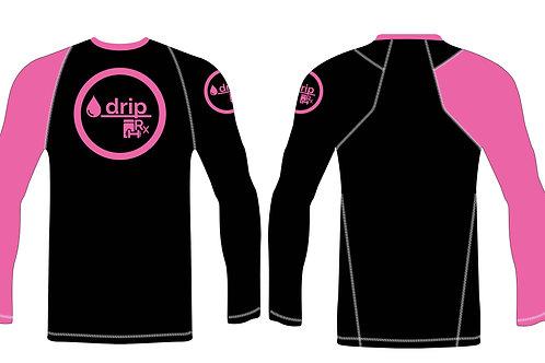 dripRx Long Sleeve Compression Shirt [Pink/Black]