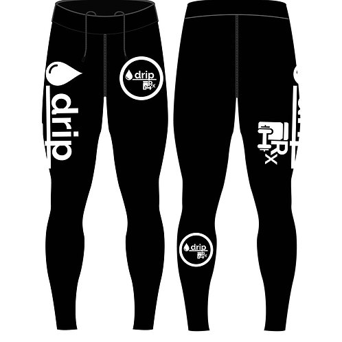 High Performance Compression Training/Recovery Leggings/Spats [White/Black]